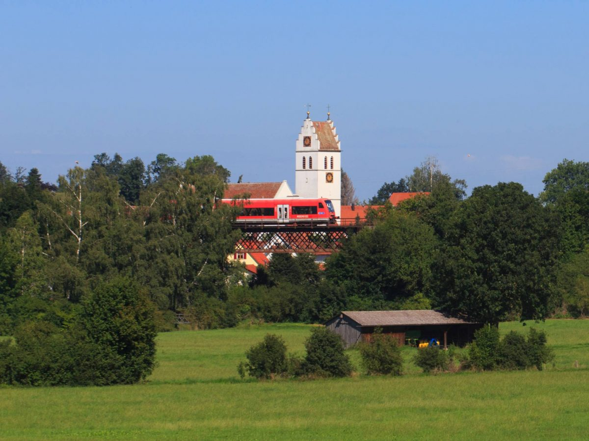 Tolle Ausblicke aus der Räuberbahn - hier in Ostrach